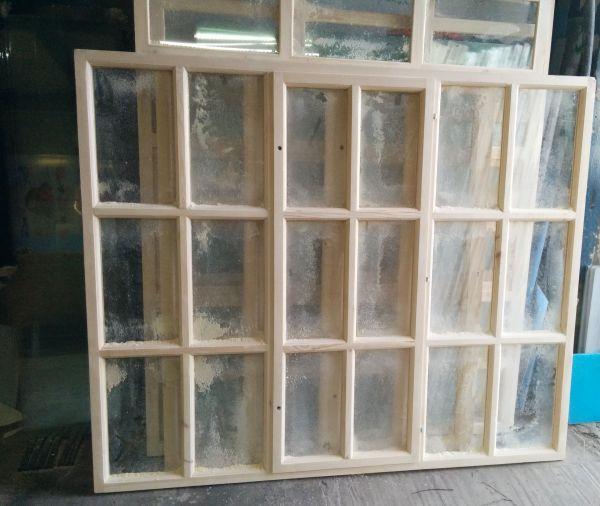 Окно верандное деревянное 150 х 180